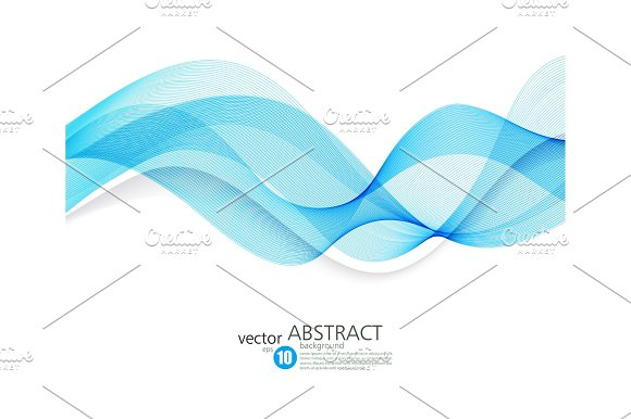 Abstract Vector Background Futuristic Wavy
