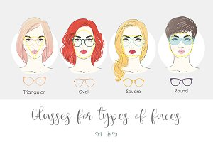 Glasses for type of faces