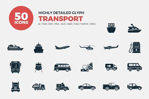 Glyph Icons Transport Set
