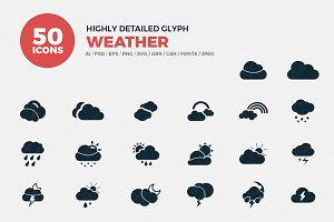 Glyph Icons Weather Set