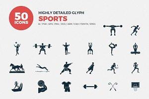 Glyph Icons Sports Set