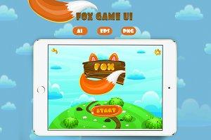 Cartoon Fox Game Interface Pack