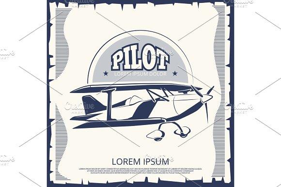 Label Design Vintage Poster Airplane