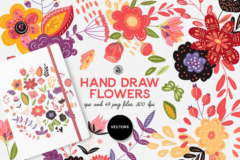 Hand Draw Flowers Illustrations Creative Market