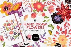 Hand Draw Flowers