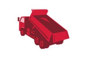 dump dumper truck dumping load rear