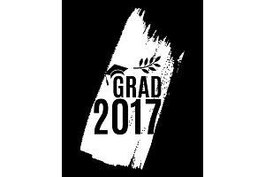 Class of 2017 graduate greeting card