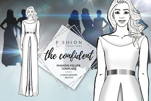 Female fashion figure- The confident