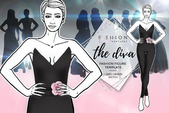 Female Fashion Croqui- The Diva