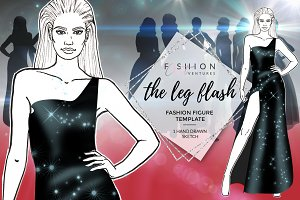 Fashion sketch- The Leg Flash