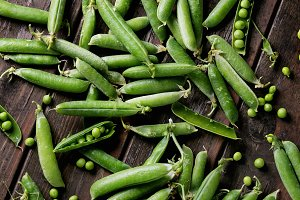 Young green peas