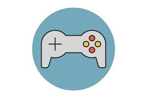 Joystick flat line icon