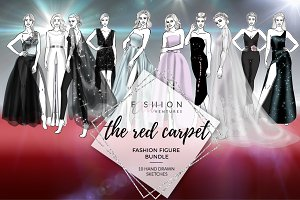 Red Carpet Bundle- fashion croquis