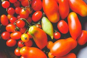Tomato vegetable, faded vintage look