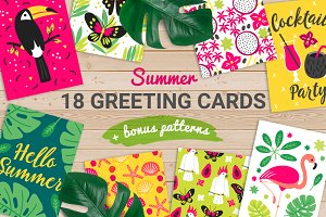 18 Summer Greeting Cards