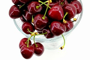 Fresh freshly picked cherries