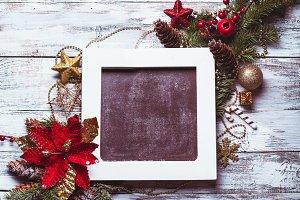 Christmas vintage chalkboard