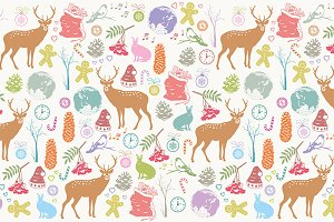 Card with Christmas deer