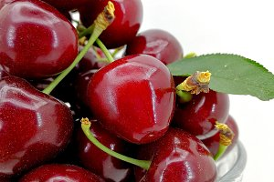 Fresh red ripe cherries