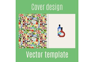 Cover design with bar drinks