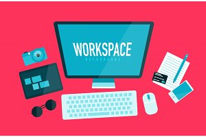 Computer workspace concept