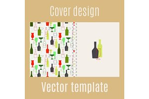 Cover design with bar drinks silhouette