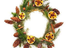 Spice Christmas wreath