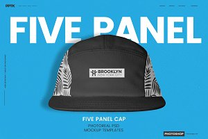 5 Panel Cap Photoshop Templates