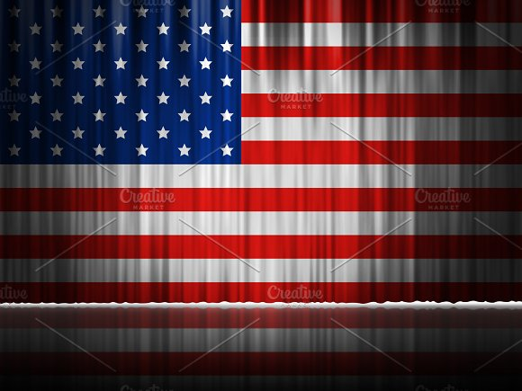 USA Stage Curtain Background