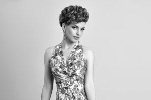 Fashion Beauty Model. Stylish Mohawk hairstyle