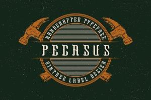 Pegasus label font