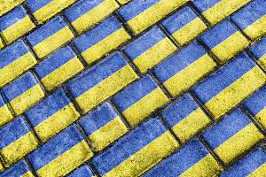 Ukraine Flag Urban Grunge Pattern