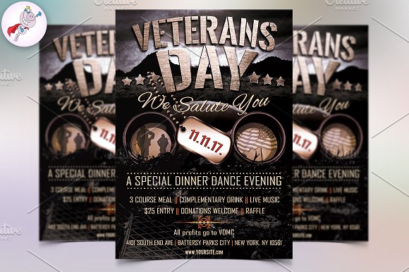 veterans day flyer template flyer templates creative market