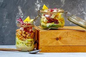 jars zucchini pasta with tofu