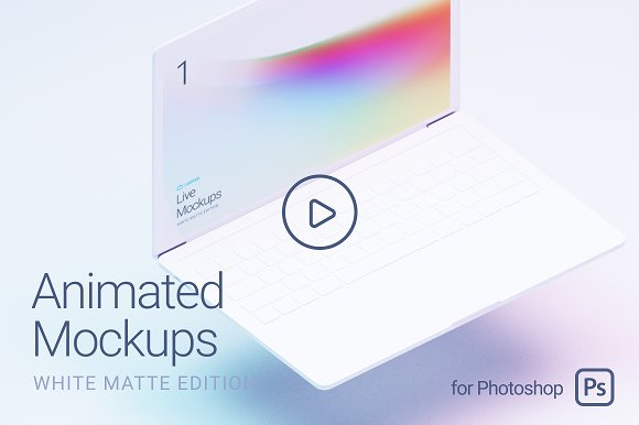 Looped Animated Mockups White
