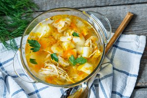 Home chicken soup
