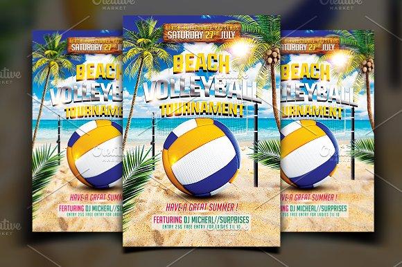 beach volleyball flyer flyer templates creative market