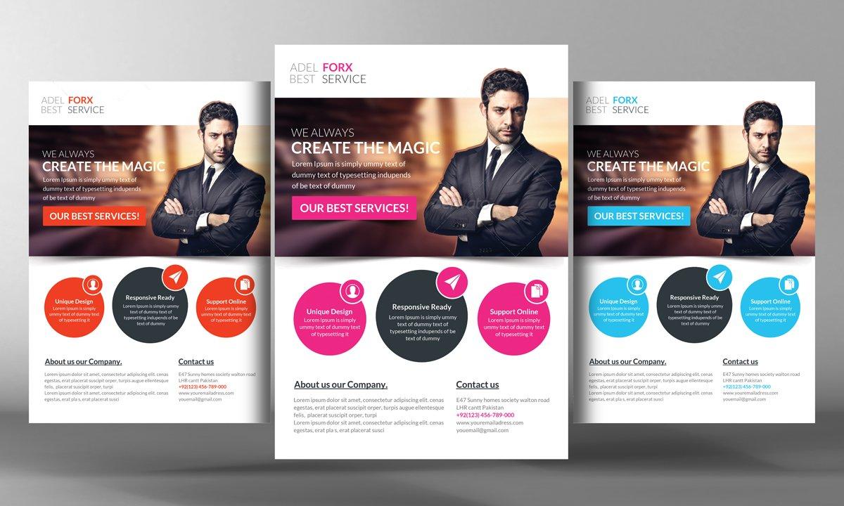 Active modern business flyer flyer templates creative market for Modern flyers template