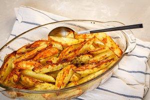 Homemade baked potatoes