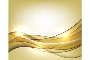 Gold vector Template Abstract background with curves lines. For flyer, brochure, booklet and websites design