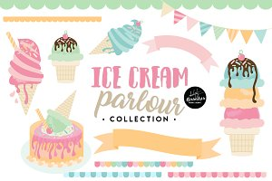 Ice Cream Parlour Graphics & Pattern