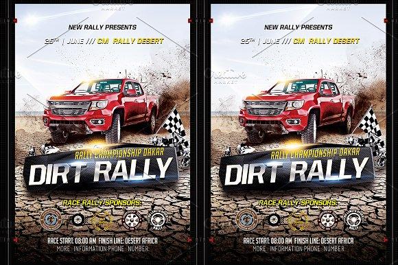 dirt rally flyer templates creative market