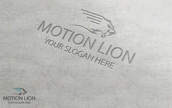 Motion lion logo logo templates creative market motion lion logo logos maxwellsz
