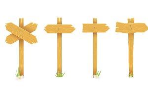 Wooden waymark