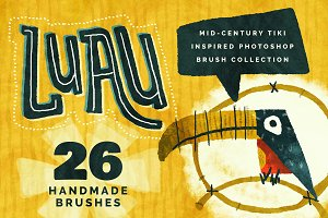 Luau Photoshop Brush Collection