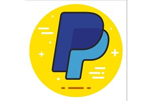 Letter P Logo Design Element