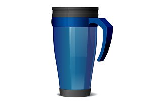 Metal travel thermo cup