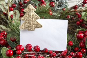 Clear paper with Christmas decor