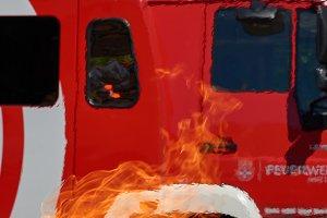 fire truck in danger