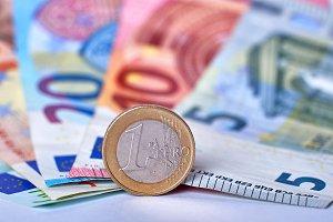 Euro currency closeup